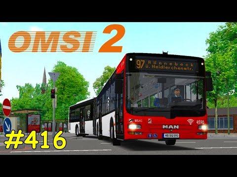 Let's Play OMSI 2 Teil 416 - Linie 97 Bf Blumenthal - Rönnebeck | Bremen-Nord | MAN Lion's City A23