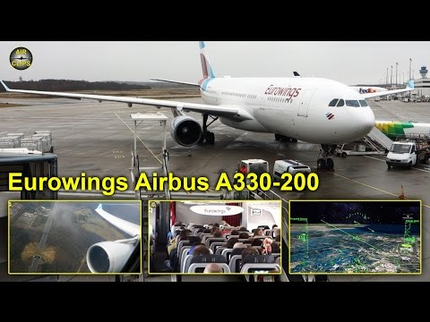 Eurowings (Sun Express) Airbus A330-200 BEST CLASS Cologne to Bangkok  [AirClips full flight series]