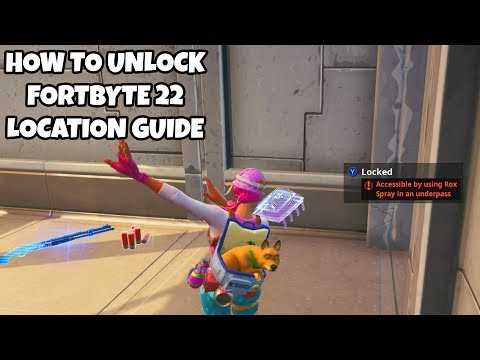 How To Unlock Fortbyte 22 Location Guide | Accessible By Using Rox Spray In An Underpass