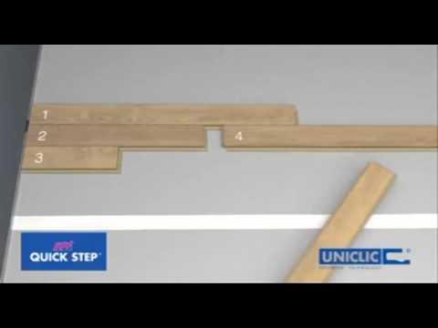 C mo instalar un suelo laminado de quick step youtube for Como instalar suelo laminado