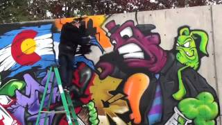 Рисование баллончиками. Как рисуют граффити на стенах(Искусство граффити тебя задело? Если да, то ты, наверное, уже нарисовал кучу скетчей (набросков) карандашом..., 2015-03-28T15:40:24.000Z)