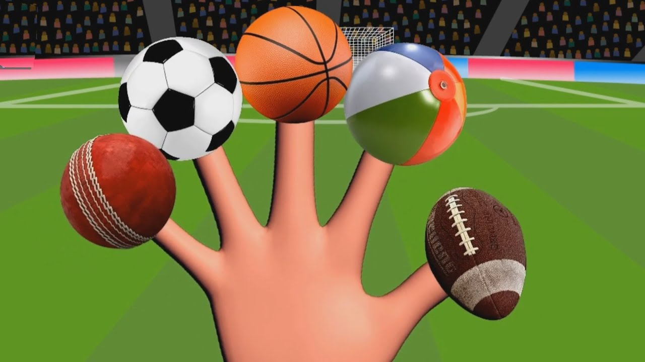 Fun Learn Types Of Sports Balls Finger Family Playing