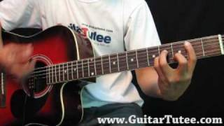 Miley Cyrus - Right Here, by www.GuitarTutee.com