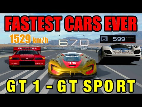 Fastest Cars In History Of Gran Turismo // GT1 - GT Sport