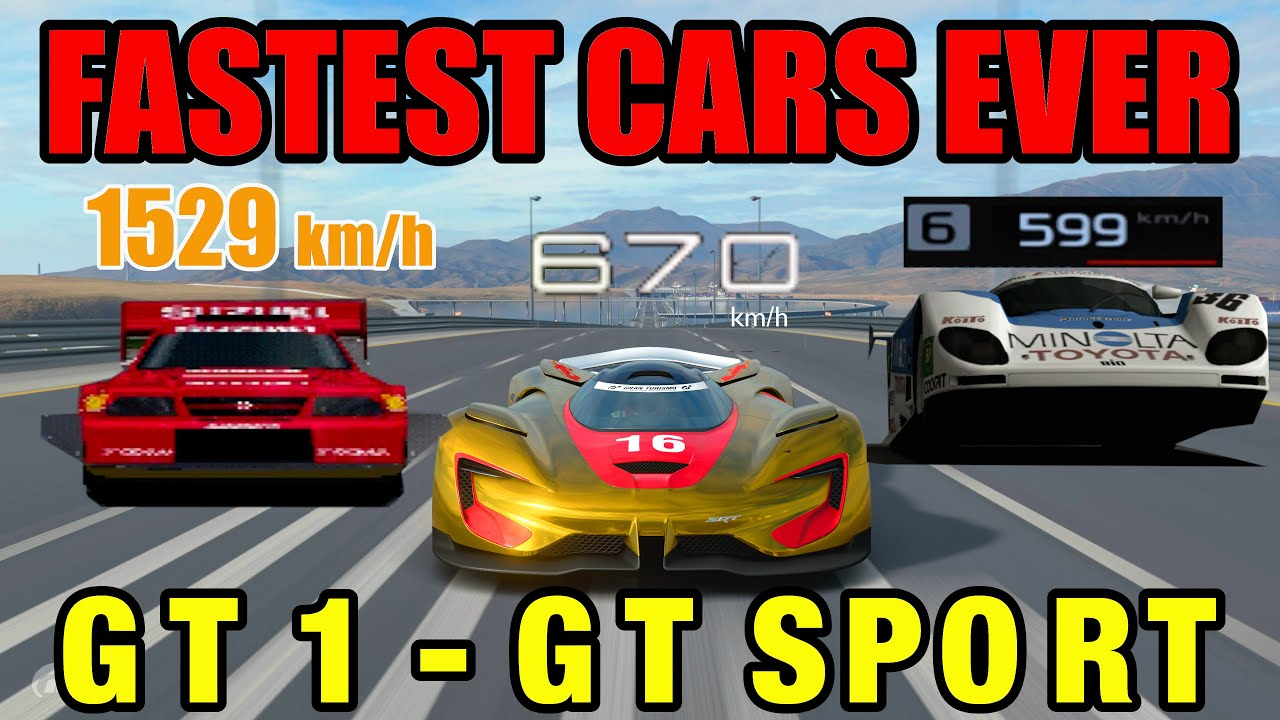 Fastest Cars In History Of Gran Turismo // GT1 - GT Sport thumbnail