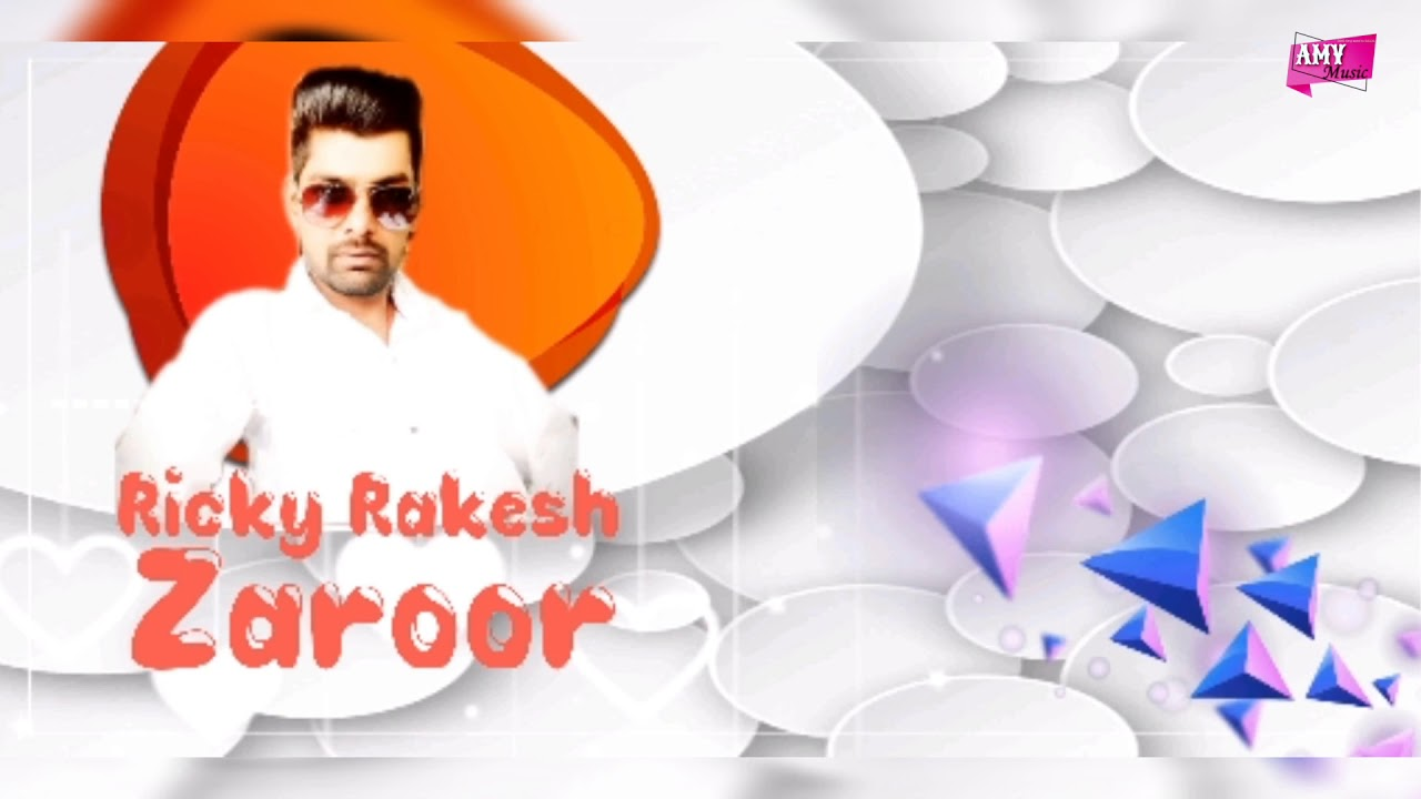 Zaroor (Full Audio) - Ricky Rakesh | New Punjabi Song 2020 | Punjabi Sad Song