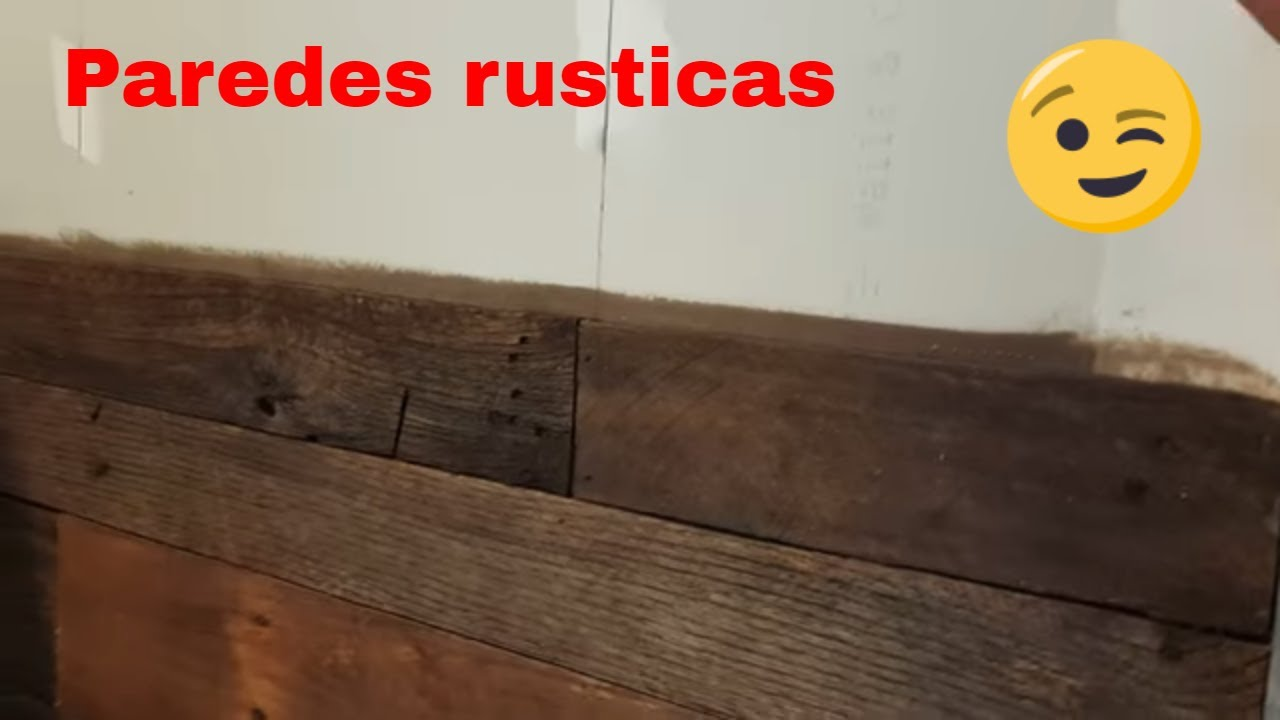Como decorar paredes con tablas de estibas youtube - Como decorar paredes ...