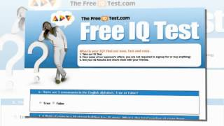 Free IQ Test For Adults  The specific Test  For Adults