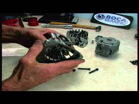 Part 5 - Zenoah RC engines crank bearings renewal - DISMANTLE ENGINE & REMOVE BEARINGS