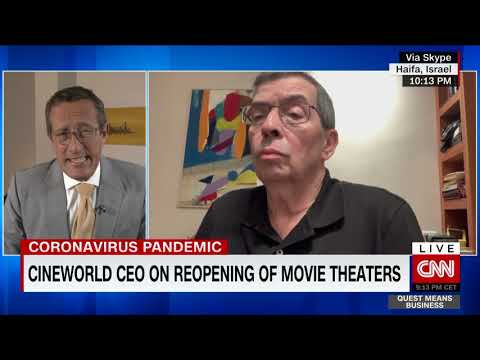 Cineworld CEO On Reopening Of Movie Theaters