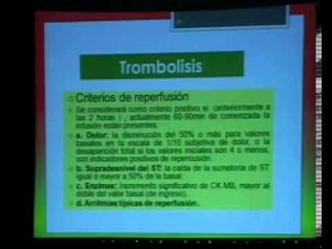 Manejo Clinico del IAM con Elevacion del ST - Dra. Maribel Almonte