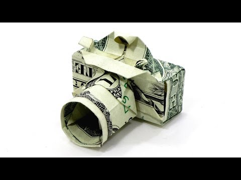 Dollar Camera Origami Tutorial (Won Park) 折り紙  カメラ $1 Money Billete