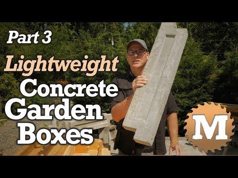 make Lightweight Concrete Garden Boxes PART 3 - Aircrete Vermiculite Lava Rock