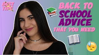 REAL BACK TO SCHOOL ADVICE THAT YOU NEED TO HEAR (High School & College) | Just Sharon