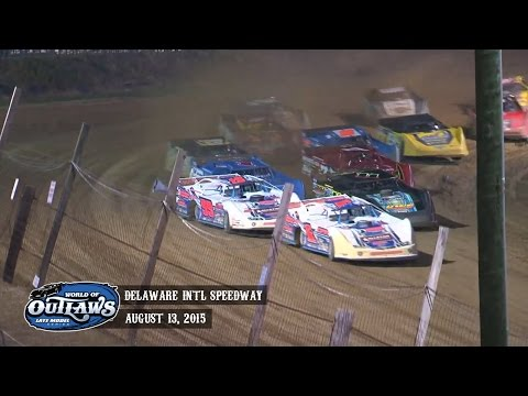 Highlights: World of Outlaws Late Model Series Delaware International Speedway August 13th, 2015