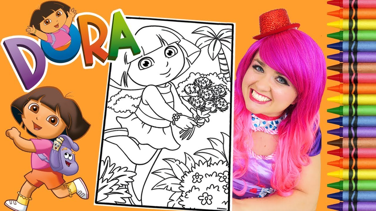 Coloring Dora The Explorer GIANT Book Page Crayola Crayons