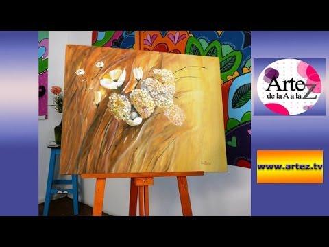 Clase b sica de pintura acr lica con esponja youtube - Pintar en lienzo para principiantes ...
