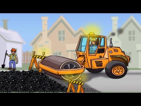 เกมส์รถก่อสร้าง รถบดดิน รถดั้ม รถบรรทุก รถตักดิน | Construction vehicles