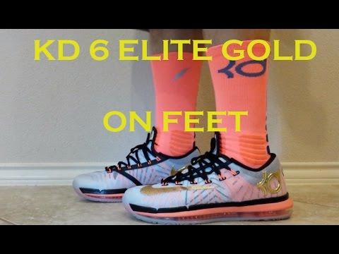 KD 6 Elite Gold with KD Elite Socks ON FEET - YouTube   480 x 360 jpeg 26kB