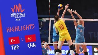TURKEY Vs. CHINA - Highlights Women | 3rd Place | FIVB Volleyball Nations League 2019