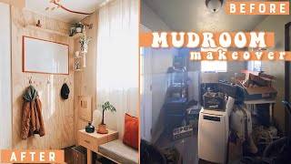 QUICK + EASY DIY MUDROOM MAKEOVER!!!