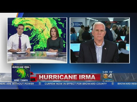 Vice President Mike Pence talks to CBS4 about Hurricane Irma