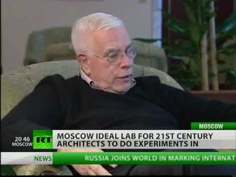 Architect Peter Eisenmann gives a master-class in Moscow
