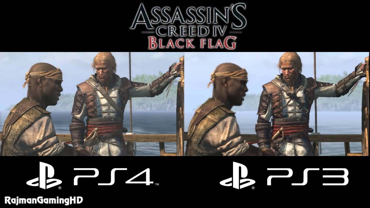 Assassin S Creed Iv Black Flag Ps3 Vs Ps4 Graphics Comparison