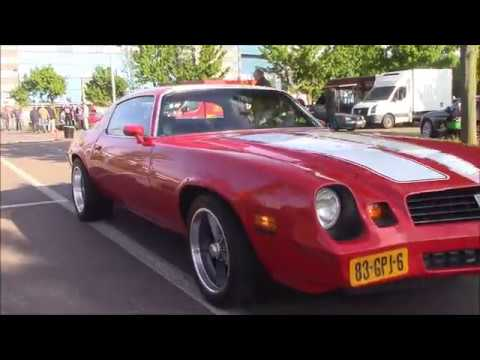 oldtimer cars arrive at the first Classic Summer Meet in Genk,Belgium