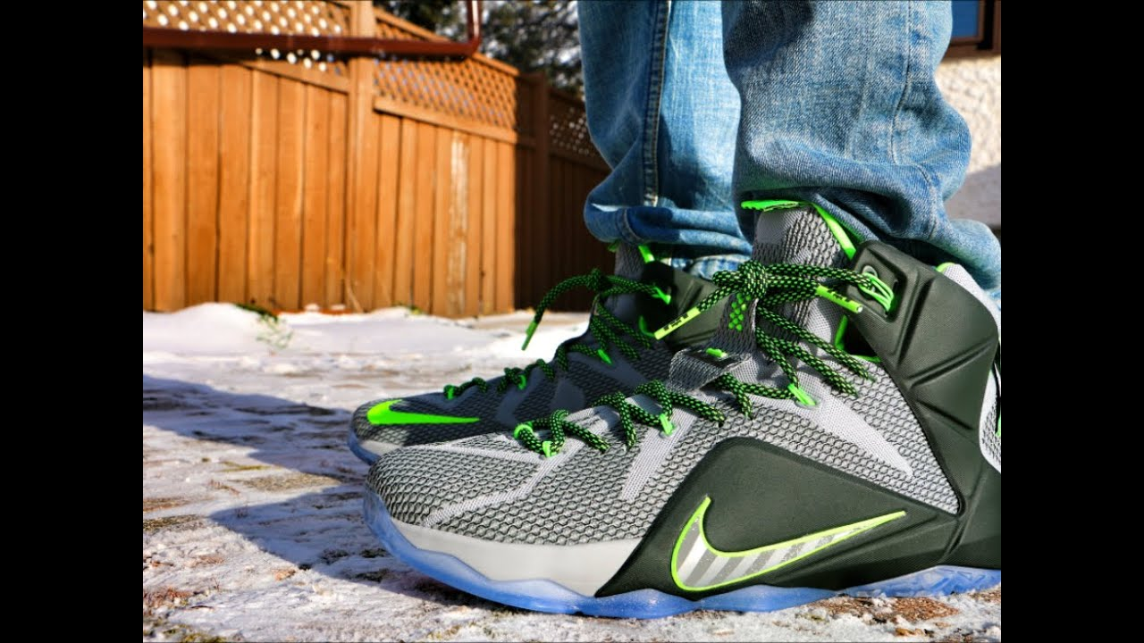 aefa1fd9f29 ... review with dj delz hotornot 3de43 333b0  discount nike lebron 12 dunk  force on foot youtube 0ea94 80599