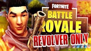 EPIC REVOLVER ONLY CHALLENGE! (Fortnite Battle Royale)