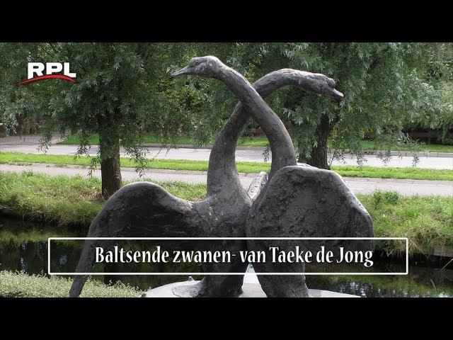 Beelden in Woerden: Baltsende zwanen