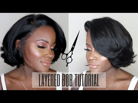 HOW TO: CUT A LAYERED BOB | ALI JULIA