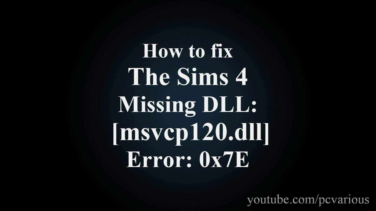 msvcp120.dll sims 4
