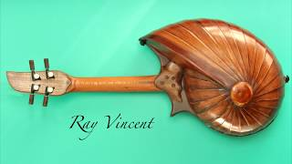 Concert size ukulele with Fibonacci, shell back design. Handmade by luthier Ray Vincent.