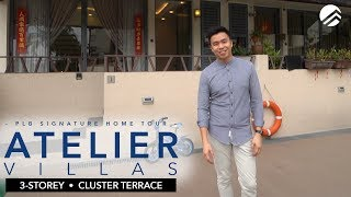 Atelier Villas 2 58mil 3 Storey Cluster Terrace With A Spectacular View In Lentor Youtube