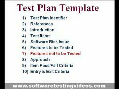 Test Plan Template for Software Testing Projects