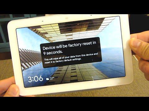 factory reset google home hub
