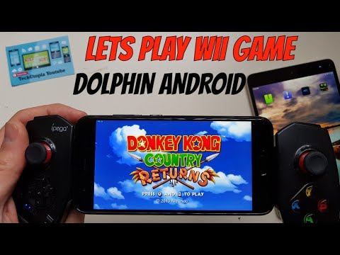 Playing Donkey Kong Country Returns On Android Smartphone/Wii Game Emulator Dolphin