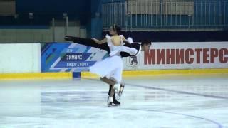 Первенство России среди юниоров 2015  Спортивные танцы на льду, КМС  ПП 5 Ева ХАЧАТУРЯН  Андрей БАГИ