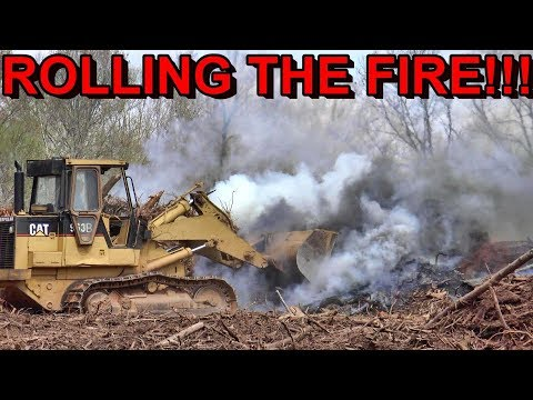 ROLLING FIRE WITH THE CAT 963...LAND CLEARING ADVICE TO SAVE TIME/MONEY...AERIAL FOOTAGE AND MORE!