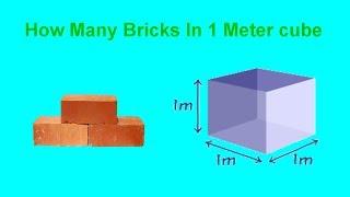 How Many Bricks In 1 Meter Cube
