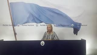 Conferencia de prensa del Directorio a cargo de la Pres. Beatríz Argimón. Medio: Blancos.uy