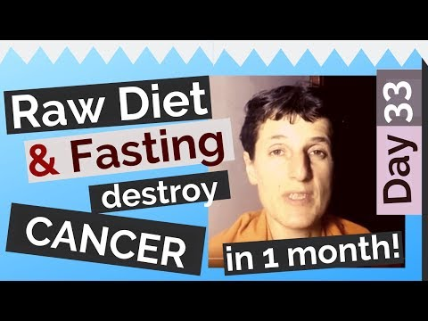 Day 33: Raw Food and Intermittent Fasting destroy my Skin Cancer in 30 days!(Diary, 2018)