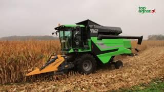 Nowy kombajn Deutz-Fahr C5305 w kukurydzy