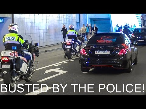 SR Swiss Mercedes C63S Gets BUSTED By The Police! + Burnout, Launch Control, Revs