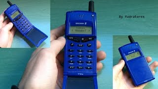 Ericsson T10s retro review (old ringtones) brick phone from 1999. Vintage