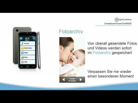 PowerTel M9500 amplicomms senioren smartphone einfache Benutzeroberfläche a