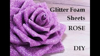 Foam Sheet Flowers Making. Foam sheet flowers. Glitter foam sheet craft ideas. foamiran rose