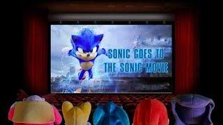 Sonic Plush - Sonic goes to the Sonic Movie (SPOILER WARNING!)